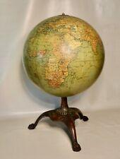 Antique Twelve Inch Terrestrial World Globe By Hammond