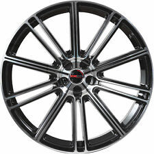 4 GWG Wheels 17 inch Black Machined FLOW Rims fits AUDI A3 2005 - 2018