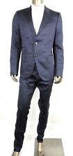 Gucci Men's Blue Linen/Wool Signoria Suit 2 Button IT 56R/US 46R 336720 4511