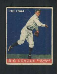 1933 Goudey #103 Earle Combs VG/VGEX RC Rookie Yankees 125828