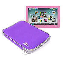 Portable DVD Player Case W/ Strong Dual Zip for Elonex 50pmp Pink Dv730