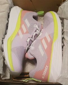 Adidas Terrex Womens Two Trail Running Shoes Purple/White/Glory Size 6