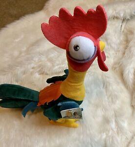"Disney MOANA Plush Talking HEI HEI Rooster 13"" CLUCKS CROWS & MOVES!"