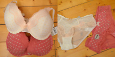 New! 2 TU bra and underwear set - 34E UK 8 - sexy lingerie knickers pink floral