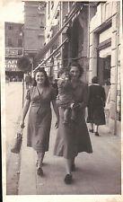 FOTO RAGAZZE A PASSEGGIO A MONTECATINI 1948  C4-538