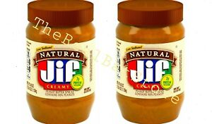 2 Jif Natural Creamy Peanut Butter Spread 40 Ounce