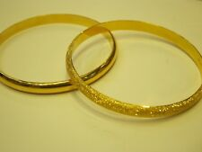 Women's Yellow 21k Solid Gold Bracelet Bangle - Metal Wt. 11 Grams