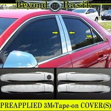 2008 09 10 11 12 2013 CADILLAC CTS Chrome Door Handle COVERS+ 6pc Pillar Posts