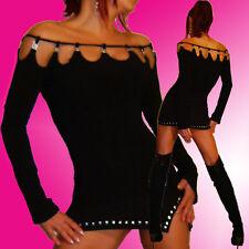 Extravagantes Gothic Shirt Steinchen Du wirst es lieben elegantes Top Party