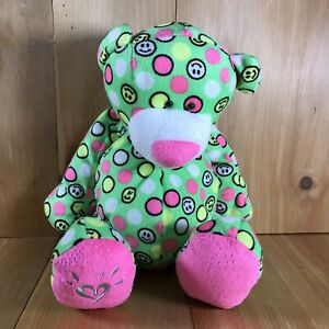 """Ganz Justice Exclusive 14"""" Tall Green Smiley Face Beanbag Stuffed Plush     B-11"""