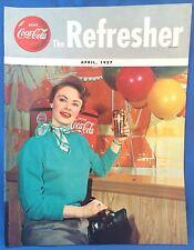 1957 April COCA COLA Refresher Magazine HAITI Ice Fisherman Telephone Manners