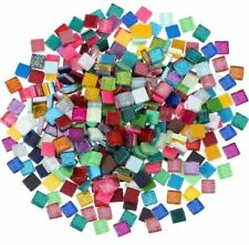 100pcs Glitter Glass Stone Tiles Pebbles Diy Craft Mosaic Making Home Decoration