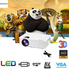 Mini LED Projector 1080P HD 7000 Lumens Home Cinema Theater HDMI/VGA Laptop DVD