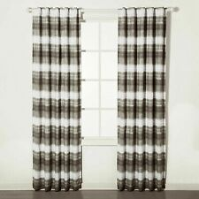 "Dip Dye Striped Blackout Curtain Panel - 84"" x 42"""