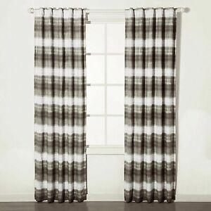 """Blackout Window Curtain Panel Dip Dye Striped 84"""" x 42"""""""
