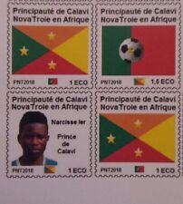 Principauté de Calavi NovaTroie Bénin Série drapeau Narcisse 1er micronation