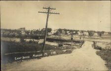 Milbridge ME Great Bridge & Telegraph Pole c1915 Real Photo Postcard