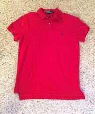 Ralph Lauren Men's Custom Fit Polo Cotton Mesh Polo Color- Red EUC Size: Med