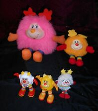 Rainbow Brite Lot Of 5 Sprites, Deelite, Spark, Twink, Yellow, Original 1983!
