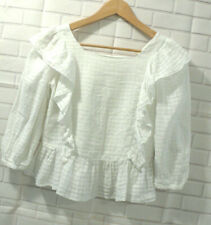 ZARA KIDS COLLECTION White Cotton Tunic Blouse Sz 13-14