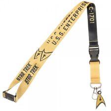 Star Trek Kirk Yellow Member U.S.S. Enterprise ID Badge Holder Keychain Lanyard