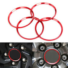 4x Red Alloy Wheel Center Hub Ring Decorator Cover Trim For Honda Civic 2016-17