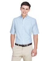 UltraClub Men's Classic Wrinkle-Resistant Short-Sleeve Oxford 8972 S-6XL