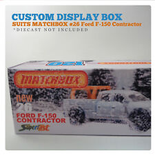 CUSTOM  120 BOX   Suits MATCHBOX FORD F-150 CONTRACTOR - NO 26.   BOX ONLY