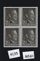 MNH Stamp block / Adolph Hitler / 20GR / 1941 / Occupied Poland / Third Reich
