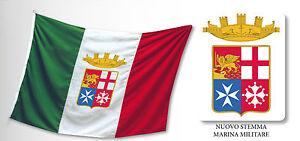 Bandiera Marina Militare italiana esterno cm 250x375 perlon lana Italia