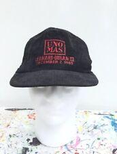 """Vintage Sugar Ray Leonard Roberto Duran III SnapBack Cap Hat """"Uno Mas"""" Corduroy"""