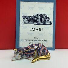 Cat figurine Franklin Mint curio cabinet collection sculpture 1986 vtg Imari mcm