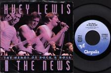 "HUEY LEWIS AND THE NEWS The Heart And Soul Ep  7"" Ps, Workin' For A Livin'-Live,"
