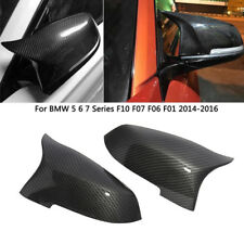 1Pair Carbon Fiber Side Mirror Covers Caps Factory Fit for BMW F10 M5 2014-2016