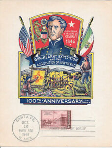 #944 First Day Souv Card 3c 100th Anniv. of the Acquisition of New Mexico w/FDC