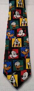VINTAGE Disney Tie Mickey Unlimited Mickey Mouse Donald Goofy Pluto Necktie