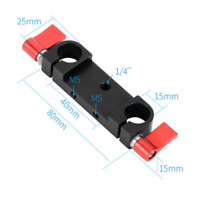 DSLR Camera Dual 15mm Rod Clamp  for 15mm Rail Rig Support System