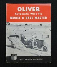 """1950 """" The oliver Automatique Fil Cravate Modèle 8 Bale Maître """" Brochure Good 1"""
