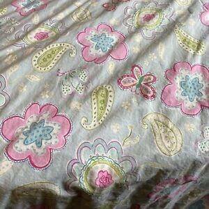 POTTERY BARN KIDS DUVET COVER  BUTTERFLIES FLOWERS PAISLEY SZ FULL/QUEEN