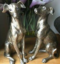 More details for regal greyhound dog gold resin indoor or outdoor garden sculpture ornament