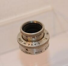 DALLMEYER ANASTIGMAT 13mm F1.9 ,  D MOUNT CINE LENS, CAN BE ADAPTED to PENTAX Q