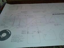 Ben Buckle Majestic Major  plans set r/c balsa built up model vintage old timer