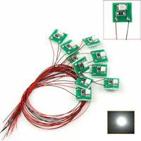 10Pcs DD00W Pre Wired SMD 3528 Led Lamps Bright White Lights Set 12V-18V