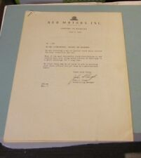 1948 REO Motor Car Company 7 Different Truck Sales Letter Collection for Dealer
