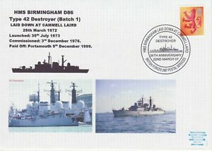 GB Stamps Navy Souvenir Cover HMS Birmingham, destroyer, Cammell Laird,ship 2007
