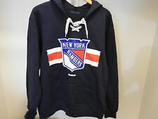 NHL New York Rangers #30 Lace-Up Sweatshirt Hockey Jersey New Mens XX-LARGE