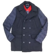 NEW TOMMY HILFIGER NAVY WOOL BLEND QUILTED SLEEVE...