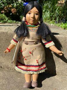 "Vintage 12"" 1996 GOLDEN EAGLE BLACKFOOT Sandy Doll Native American Warrior #122"