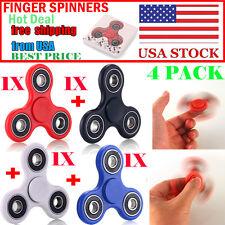 4X Colorfful Tri-Spinner Fidget Toy EDC Hand Finger Spinner Desk Focus USA