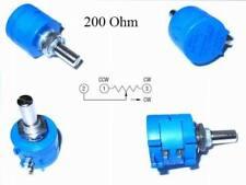 Bourns 3590s - 2-201l 200 Ohm Rotary alambre precisión-potenciómetro 10 marchas 1 St